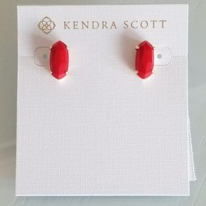 Kendra Scott Red Betty Studs